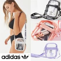 adidas Casual Style Crystal Clear Bags PVC Clothing Shoulder Bags