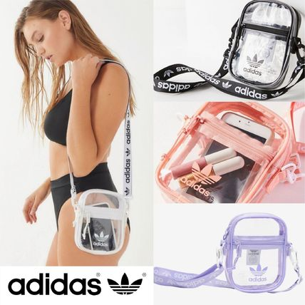 Casual Style Crystal Clear Bags PVC Clothing Shoulder Bags