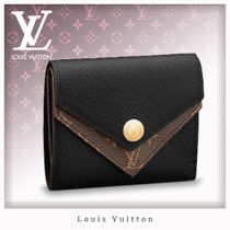 Louis Vuitton DOUBLE V Monogram Leather Coin Purses