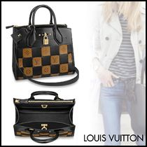 Louis Vuitton CITY STEAMER Other Check Patterns Blended Fabrics 2WAY Bi-color Leather