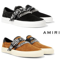 AMIRI Suede Chain Plain Loafers & Slip-ons