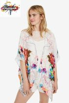 Desigual Flower Patterns Medium Ponchos & Capes