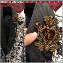 Dolce & Gabbana Heart Blended Fabrics Chain Watches & Jewelry