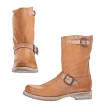 FRYE Casual Style Plain Leather Mid Heel Boots