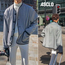ASCLO Other Check Patterns Street Style Long Sleeves Plain