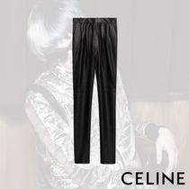 CELINE Plain Leather Pants