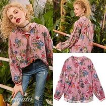 ELF SACK Flower Patterns Casual Style Chiffon Long Sleeves Medium