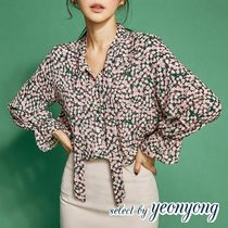 Flower Patterns Long Sleeves Medium Office Style