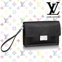 Louis Vuitton EPI Blended Fabrics Bag in Bag 2WAY Plain Leather Clutches