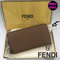 FENDI PEEKABOO Leather Long Wallets