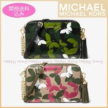 Michael Kors GINNY Camouflage Casual Style Tassel Chain Shoulder Bags