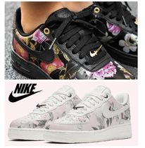 Nike AIR FORCE 1 Flower Patterns Casual Style Low-Top Sneakers