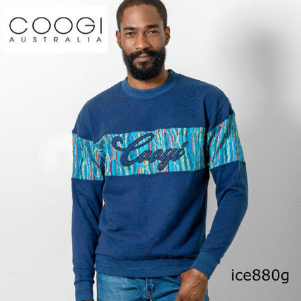 Crew Neck Cable Knit Unisex Street Style Long Sleeves Cotton