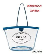 PRADA Casual Style PVC Clothing Totes