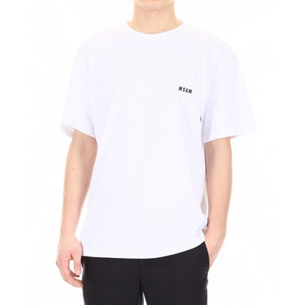 MSGM Crew Neck Crew Neck Street Style Plain Cotton Short Sleeves 2