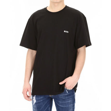 MSGM Crew Neck Crew Neck Street Style Plain Cotton Short Sleeves 7