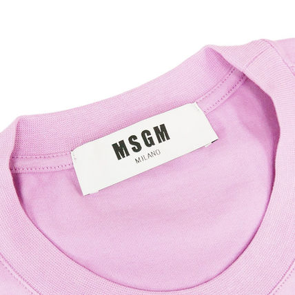 MSGM Crew Neck Crew Neck Street Style Plain Cotton Short Sleeves 16