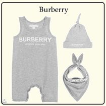 Burberry Unisex Blended Fabrics Baby Girl Dresses & Rompers