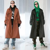 ANOTHERYOUTH Unisex Street Style Long Trench Coats