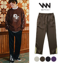 WV PROJECT Casual Style Unisex Street Style Plain Pants