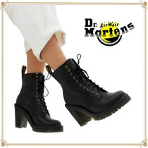 Dr Martens KENDRA Casual Style Street Style Plain Leather Block Heels