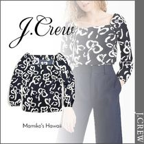 J Crew Flower Patterns Cropped Shirts & Blouses