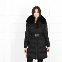 PRADA Fur Plain Long Down Jackets