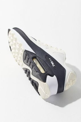 Nike AIR MAX 90 2019 SS Round Toe Lace up Casual Style Faux Fur Street Style