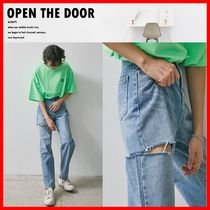 OPEN THE DOOR Unisex Street Style Jeans