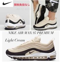 Nike AIR MAX 97 Round Toe Lace-up Casual Style Street Style Plain Leather