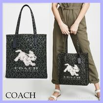 Coach Casual Style Other Animal Patterns Totes