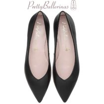 Pretty Ballerinas Plain Leather Office Style Slip-On Shoes