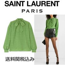Saint Laurent Star Silk Blended Fabrics Elegant Style Shirts & Blouses