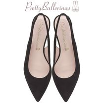 Pretty Ballerinas Suede Plain Office Style Slip-On Shoes
