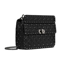 VALENTINO Casual Style Studded Chain Shoulder Bags