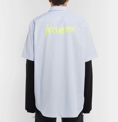 VETEMENTS Shirts Long Sleeves Plain Cotton Shirts 3