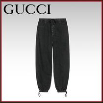 GUCCI Unisex Plain Cotton Oversized Sarouel Pants