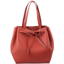 CELINE Cabas Phantom 2WAY Plain Leather Elegant Style Totes