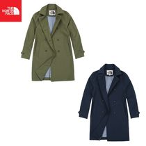 THE NORTH FACE Casual Style Fur Plain Long Trench Coats