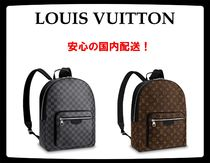 Louis Vuitton Monogram Unisex Street Style A4 2WAY Leather Backpacks