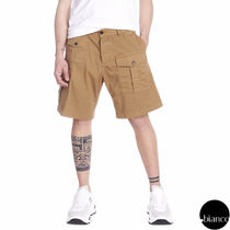 D SQUARED2 Street Style Plain Cotton Cargo Shorts