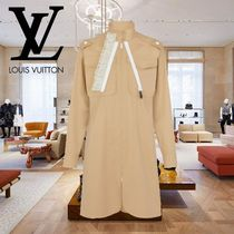Louis Vuitton Long Sleeves Cotton Elegant Style Dresses