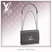 Louis Vuitton EPI 3WAY Chain Plain Leather Elegant Style Shoulder Bags