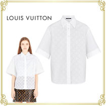 Louis Vuitton Monogram Casual Style Street Style Short Sleeves