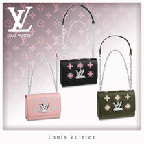 Louis Vuitton EPI Flower Patterns Casual Style 3WAY Chain Leather
