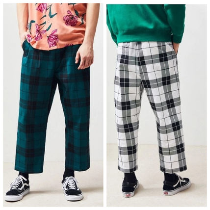Printed Pants Other Check Patterns Street Style Cotton