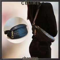 CELINE Unisex Calfskin Street Style 3WAY Chain Plain Hip Packs