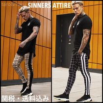 SINNERS ATTIRE Other Check Patterns Joggers & Sweatpants