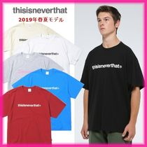 thisisneverthat Crew Neck Unisex Street Style Plain Cotton Short Sleeves