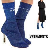 VETEMENTS Casual Style Plain Pin Heels Ankle & Booties Boots